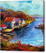 Maine Harbor Canvas Print