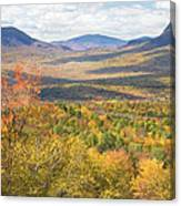 Maine Mountains In Fall Mount Blue State Park  Canvas Print