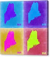 Maine Pop Art Map 2 Canvas Print
