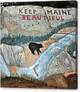 Maine Rock Painting Canvas Print