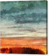 Maine Sunset Canvas Print