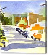 Main Street In Evening Shadows Canvas Print