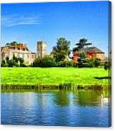 Maisemore Court And Church 2 Canvas Print
