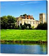 Maisemore Court And Church Canvas Print