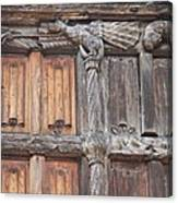 Maison De Bois Macon - Detail Wood Front Canvas Print