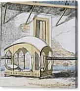 Majanah, Or Covered Reclining Canvas Print