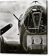 Majestic B17 Bomber From Ww II Canvas Print