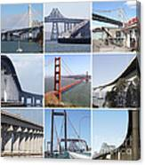 Majestic Bridges Of The San Francisco Bay Area Canvas Print