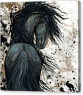 Majestic Friesian Horse 123 Canvas Print