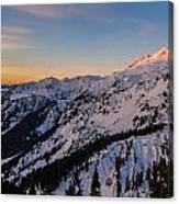 Majestic Mount Baker Sunrise Light Canvas Print