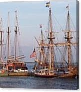 Majestic Tall Ships Canvas Print