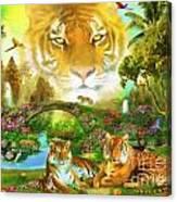Majestic Tiger Grotto Canvas Print