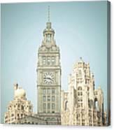Majestic Vintage Buildings Chicago Canvas Print