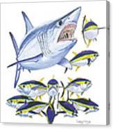 Mako Attack Canvas Print
