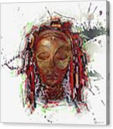 Makonde Mapiko - Lipiko Mask Canvas Print