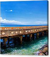 Mala Wharf Panorama 1 Canvas Print