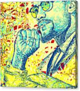 Malcolm X Drawing In Lines Canvas Print