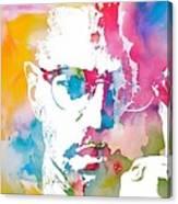 Malcolm X Watercolor Canvas Print