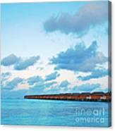 Maldives Resort Canvas Print