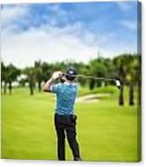 Male Golf Player  Canvas Print