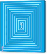 Male Maze Icon Canvas Print