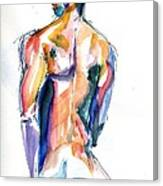 Male Nude Back Torso Canvas Print