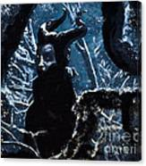 Maleficent In Winter's Woods Canvas Print