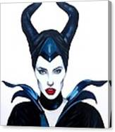 Maleficent Watercolor Canvas Print