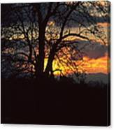 Malevolent Sunset Canvas Print