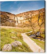 Malham Cove In Malhamdale Canvas Print