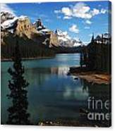 Maligne Lake Beauty Of The Canadian Rocky Mountains Canvas Print