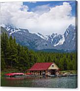 Maligne Lake In The Canadian Rockies Canvas Print