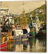 Mallaig Harbourside  Canvas Print