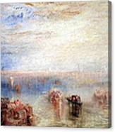 Turner's Approach To Venice Canvas Print
