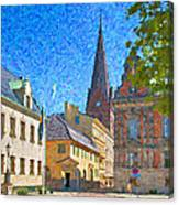 Malmo Stortorget Painting Canvas Print