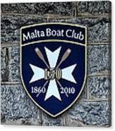 Malta Boat Club Canvas Print