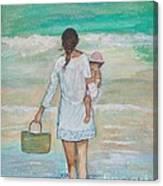 Mama's Beach Day Canvas Print