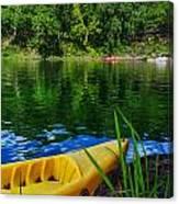 Mambu Canoe Canvas Print