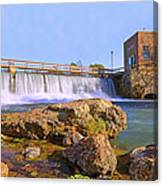 Mammoth Spring Dam And Hydroelectric Plant - Arkansas Canvas Print