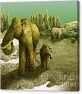 Mammoths Canvas Print