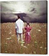 Man And Girl Canvas Print