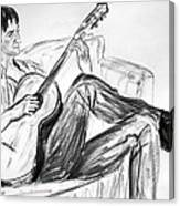 Man And Guitar Canvas Print