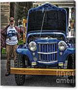 Man And His Jeep Canvas Print
