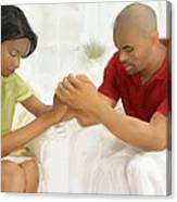 Man And Wife Pray Canvas Print