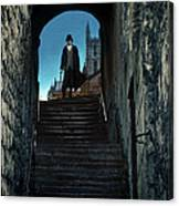 Man At The Top Of The Steps Canvas Print