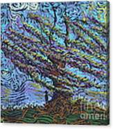 Man Beneath The Willow Canvas Print
