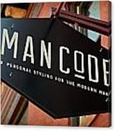 Man Code Canvas Print