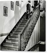 Man Dressed As Colonial Butler On The Stair Canvas Print