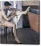 Man Drying His Leg  Canvas Print