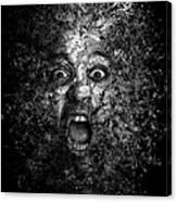 Man Eyes Face Horror Portrait Black And White  Canvas Print